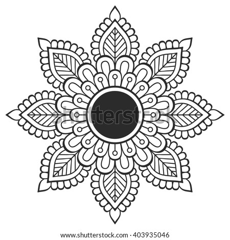 Flower Mandala Vintage Decorative Elements Oriental Stock Vector 403935046