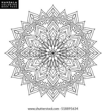 Flower Mandala Vintage Decorative Elements Oriental Stock Vector 504628561