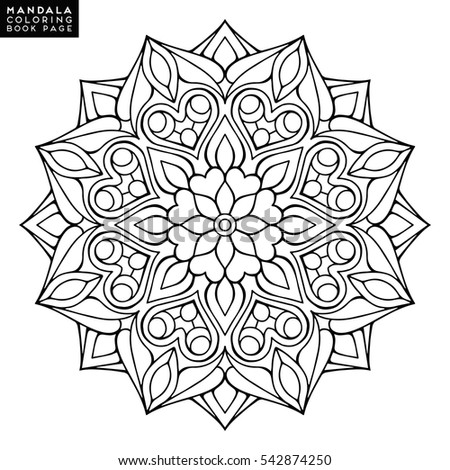 Flower Mandala Vintage Decorative Elements Oriental Stock Vector 518895655