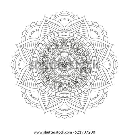 Mandala Round Ornament Pattern Stock Vector 95216224
