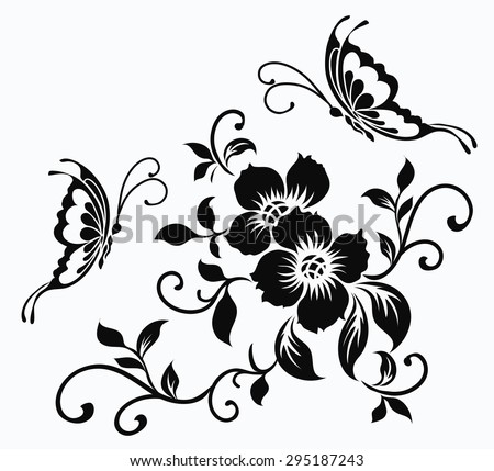 flower motif stock images royalty free images vectors shutterstock. Black Bedroom Furniture Sets. Home Design Ideas