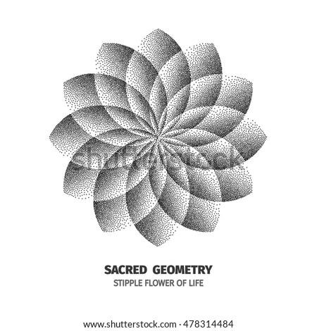 pointillism flower stock images royalty free images vectors shutterstock. Black Bedroom Furniture Sets. Home Design Ideas
