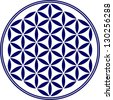 Flower of life - vector - sacred geometry - symbol harmony and balance - stock vector