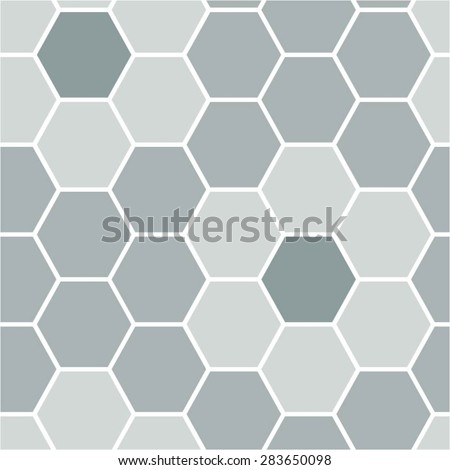 Flower of the hexagon in the geometric pattern, seamless vector background, mosaic.