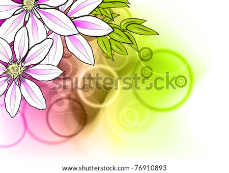 flower on the abstract background - stock vector