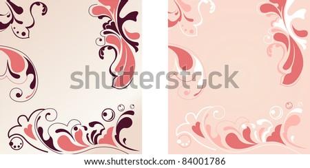 flower ornamental elegant background vector - stock vector