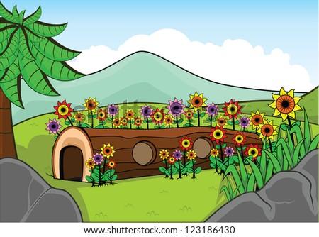 flower park - stock vector