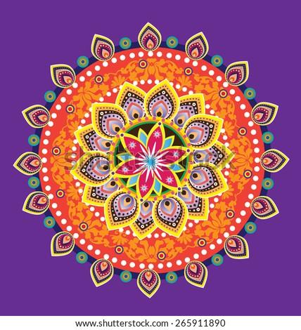 Flower pattern mandala (vector) - stock vector
