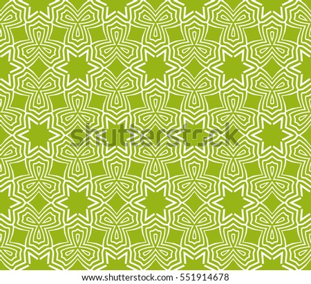 flower pattern. Seamless. Arabesque. vector illustration. green color. for invitation wedding, valentine's, background, wallpaper
