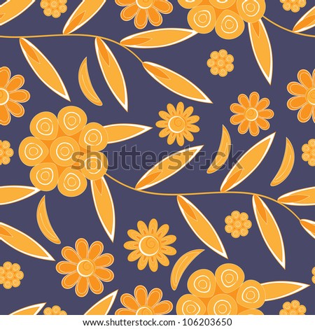 Flower pattern seamless background - stock vector