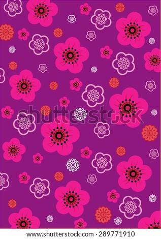 Flower Pattern (vector) - stock vector