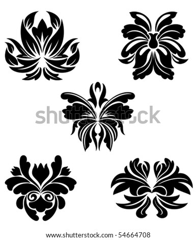Flower patterns. Jpeg version also available in gallery - stock vector