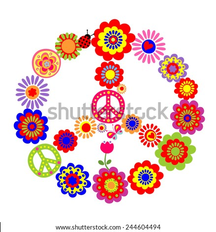 Flower-power - stock vector