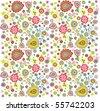 flower print - stock vector