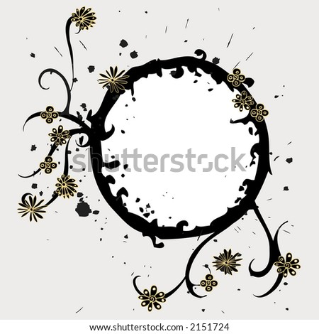 flower ring decoration - stock vector