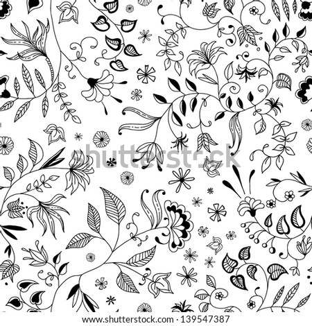 Flower seamless floral pattern thin nice and beautiful