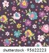 flower seamless pattern - stock photo