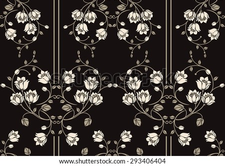 Flower seamless pattern background. Elegance Floral vector illustration., vector floral illustration in luxury style. - stock vector