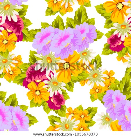 flower seamless pattern for your designs, greeting cards, greeting cards, invitations for wedding, birthday, party, Valentine's day. Vector illustration.