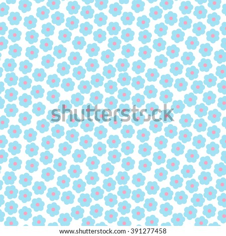 Flower seamless pattern. Small daisies background  - stock vector