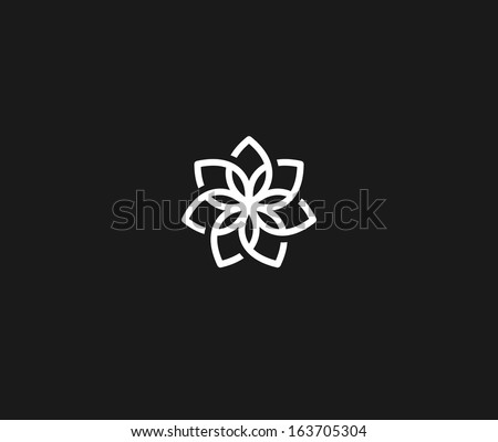 Flower symbol - stock vector