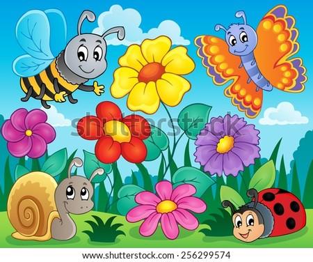 Flower topic image 5 - eps10 vector illustration. - stock vector