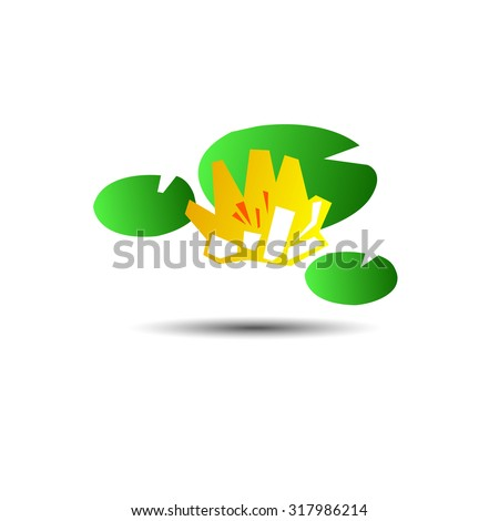 flower vector nature lotus design background pattern abstract bloom - stock vector