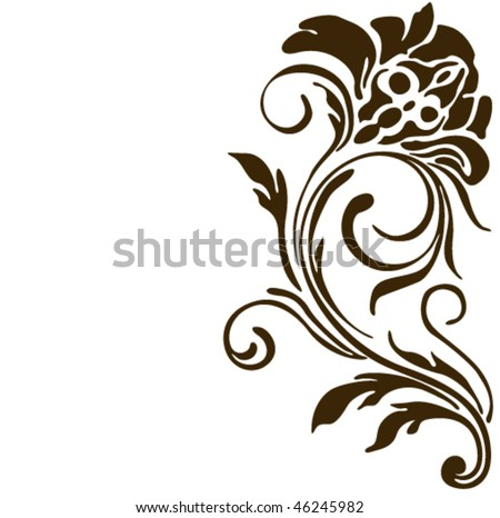 Flower vector tattoo. Ornament design. - stock vector