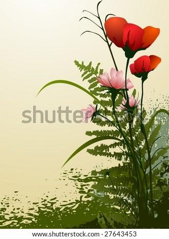 flowers 3 - stock vector
