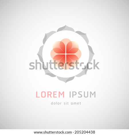 Flowers abstract icon design for SPA, Yoga, Cosmetics, Boutique,Beauty and Health,hotel and resort - stock vector