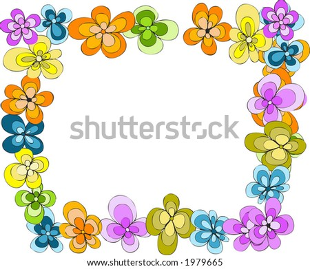 flowers background 6 - stock vector