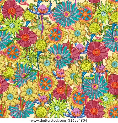 flowers colorful seamless