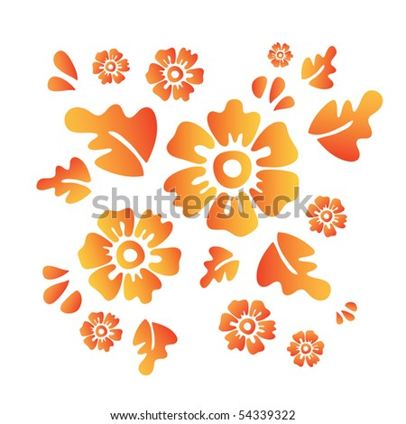 Flowers (contemporary vector design elements) - vector