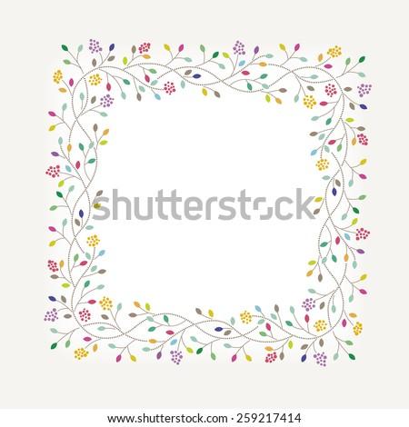 Flowers Frame - stock vector