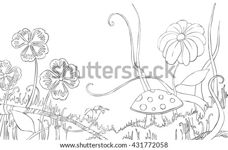 meadow animals coloring pages - photo#25