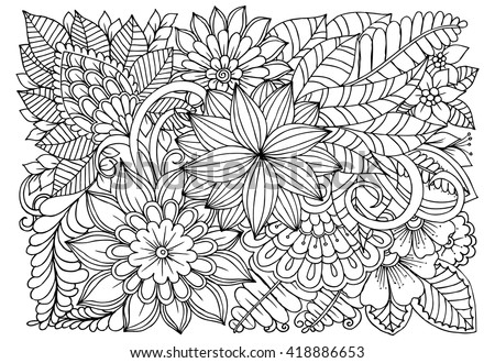 Doodle Art For Coloring Book