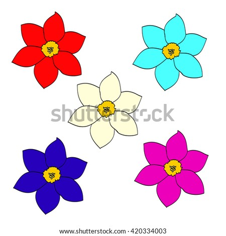 Stock images royalty free images vectors shutterstock for What makes flowers different colors