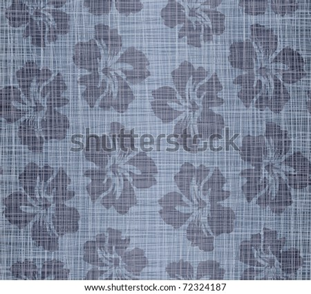 Flowers on a jeans background - stock vector