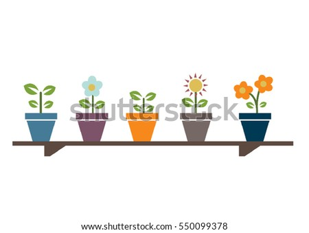 Flowers on the shelf