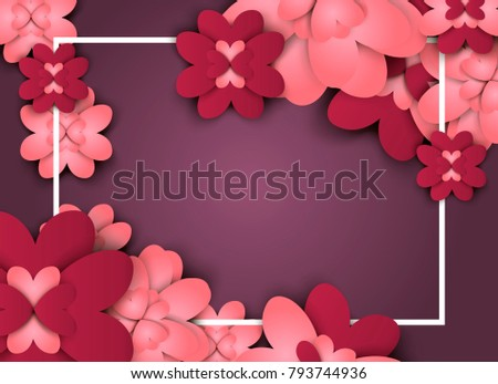 Flowers paper spring banner cut out stock vector 793744936 flowers paper spring banner cut out floral origami bouquet nature vector holiday background flowering quilling mightylinksfo
