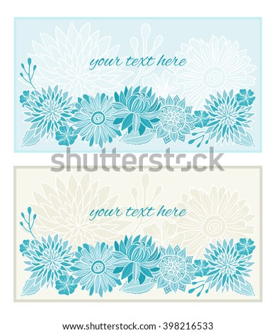 Flowers pattern template background. Invitation card. Vector illustration.