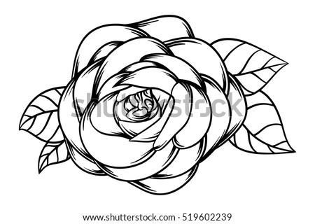 Flowers roses black white isolated on stock vector 519602239 flowers roses black and white isolated on white background vector illustration mightylinksfo