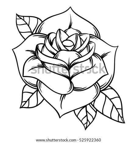 Flowers roses black white isolated on 525922360 flowers roses black and white isolated on white background vector illustration mightylinksfo