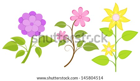 Flowers Set - stock vector