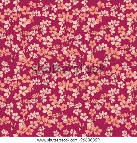Flowers. Vector. Beautiful background decorated with small flowers. - stock vector