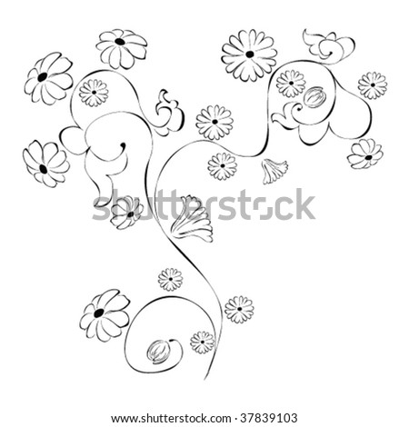 Flowers vector illustration - stock vector