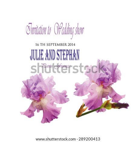 Flowers wedding Invitation Vector