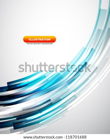 Flowing lines abstract vector background - stock vector