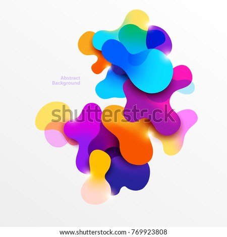 Fluid colorful bubbles. Abstract background