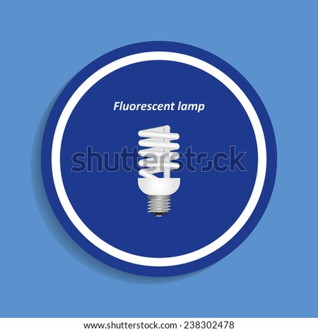 fluorescent lamp on a blue background, vector, EPS 10